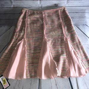 BCBGMaxAzria Pink Multicolored Print Skirt Size 6